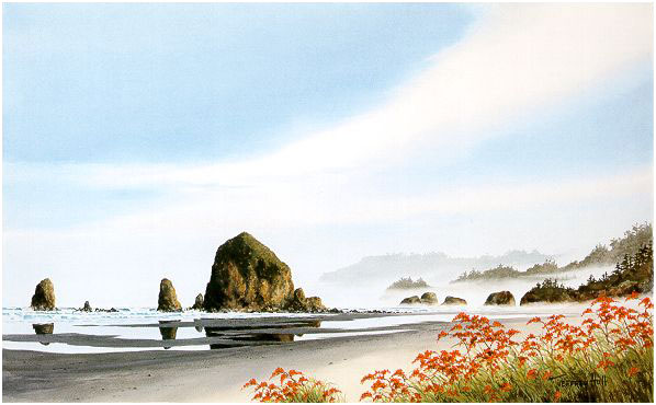 Cannon Beach Reds The Jeffrey Hull Gallery Original